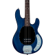STERLING BY MUSIC MAN - RAY4-TBLS-R1 STINGRAY TRANSPARENT BLUE SATIN