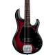 STERLING BY MUSIC MAN - RAY5-RRBS-R1 STINGRAY RUBY RED BURST SATIN, 5-CORDES