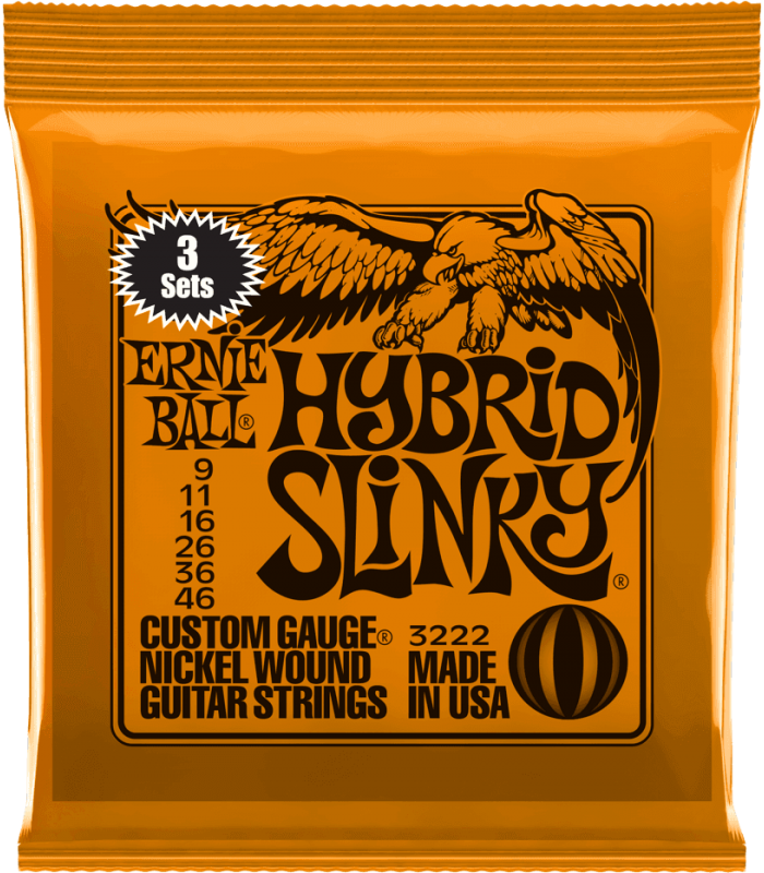 ERNIE BALL - HYBRID SLINKY 9-46 - PACK DE 3