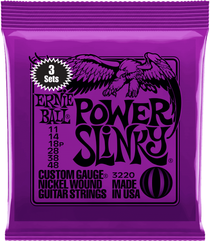 ERNIE BALL - POWER SLINKY 11-48 - PACK DE 3