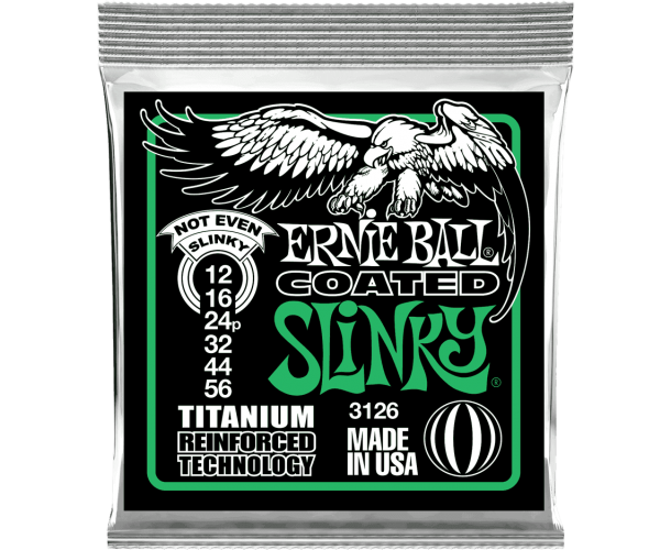 ERNIE BALL - SLINKY RPS COATED TITANIUM 12-56