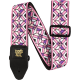 ERNIE BALL - SANGLE JACQUARD KALEIDOSCOPE PINK