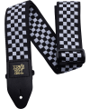 ERNIE BALL - SANGLE BLACK AND WHITE CHECKERED