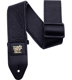 ERNIE BALL - SANGLE CUIR ITALIEN NOIR