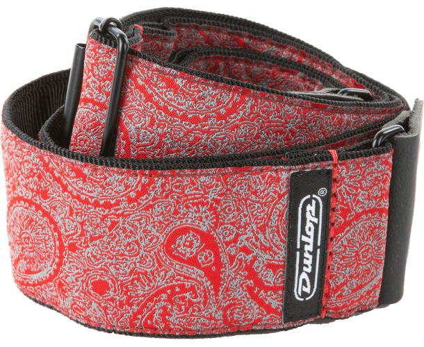 DUNLOP - JACQUARD - PAISLEY RED