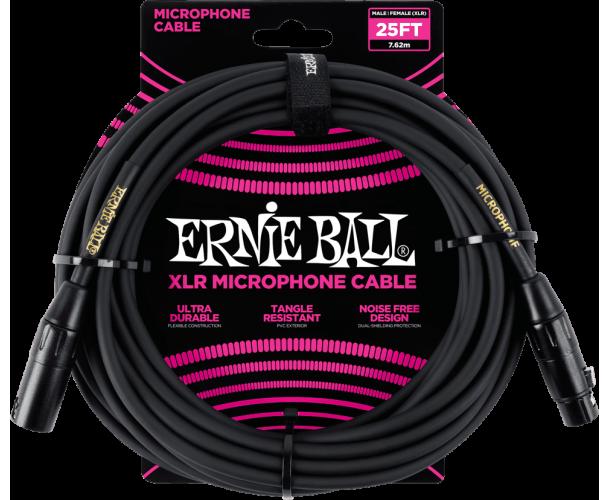 ERNIE BALL - CABLES MICROPHONE CLASSIC XLR MâLE/XLR FEM 7,62M NOIR