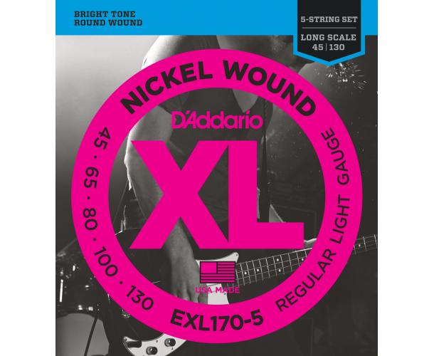 D'ADDARIO - Cordes guitare Basse EXL170-5