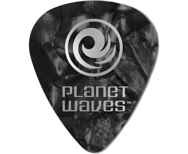 PLANET WAVES - 25 MEDIATORS CELLULOID NOIR NACRE ,70MM
