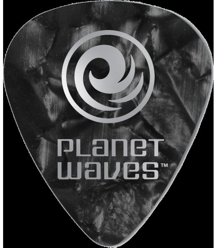 PLANET WAVES -  25 MEDIATORS CELLULOID NOIR NACRE ,70MM