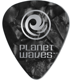 PLANET WAVES - 10 MEDIATORS CELLULOID NOIR NACRE 1MM