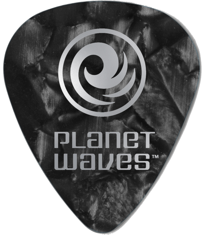PLANET WAVES - 25 MEDIATORS CELLULOID NOIR NACRE 1MM