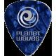 PLANET WAVES - 10 MEDIATORS CELLULOID BLEU NACRE ,50MM