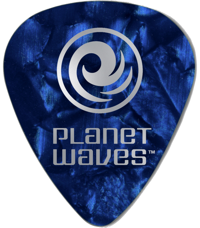 PLANET WAVES - 100 MEDIATORS CELLULOID BLEU NACRE ,50MM