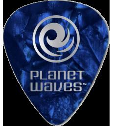 PLANET WAVES - 25 MEDIATORS CELLULOID BLEU NACRE ,50MM