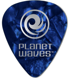 PLANET WAVES - 10 MEDIATORS CELLULOID BLEU NACRE ,70MM