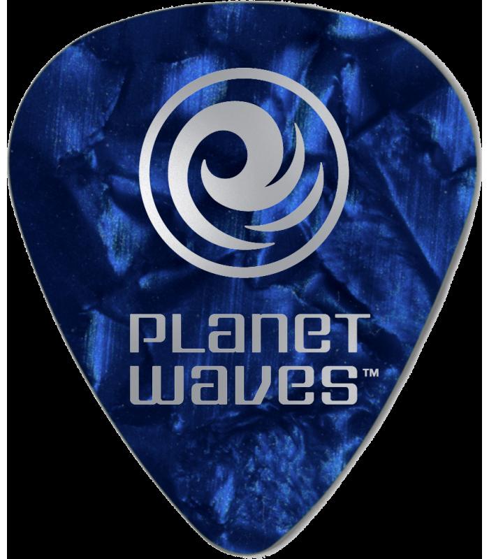 PLANET WAVES - 25 MEDIATORS CELLULOID BLEU NACRE ,70MM