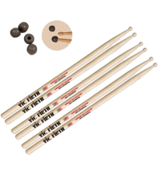 VIC FIRTH - PACK 3 PAIRES SD1 + PRACTICE TIPS