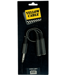YELLOW CABLE – B2FST RACCORD 2X JACK MONO FEMELLE/ JASK STEREO MALE