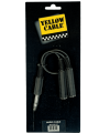 YELLOW CABLE ? B2FST RACCORD  2X JACK MONO FEMELLE/ JASK STEREO MALE