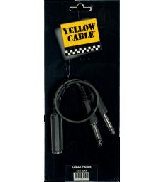 YELLOW CABLE - B2M RACCORD 2X JACK MONO MALE /JACK MONO FEMELLE