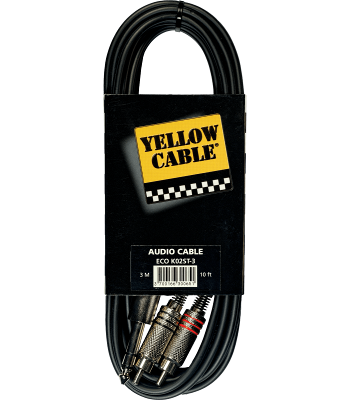 YELLOW CABLE ? K02ST-3 CORDON 2 RCA MALE/JACK MALE STE