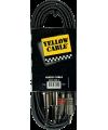 YELLOW CABLE ? K03-3 CORDON 2X RCA MALE/2X JACK MALE 3M