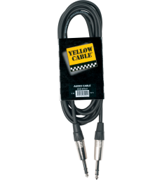 YELLOW CABLE – K15-3 CORDON JACK STEREO MALE/JACK STEREO MALE 3M