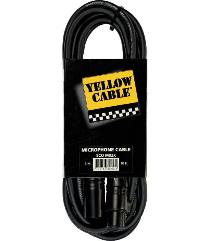YELLOW CABLE - M03X XLR MALE/XLR FEMELLE