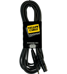 YELLOW CABLE – M05J CORDON MICRO JACK MONO MALE / XLR FEMELLE 5 M