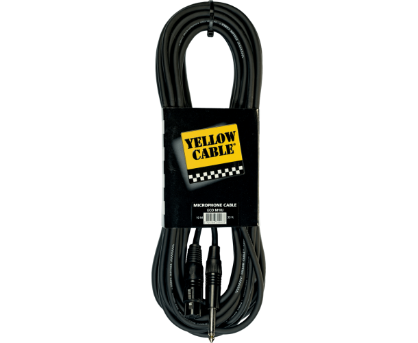 YELLOW CABLE – M10J CORDON JACK MONO MALE / XLR FEMELLE 10 M