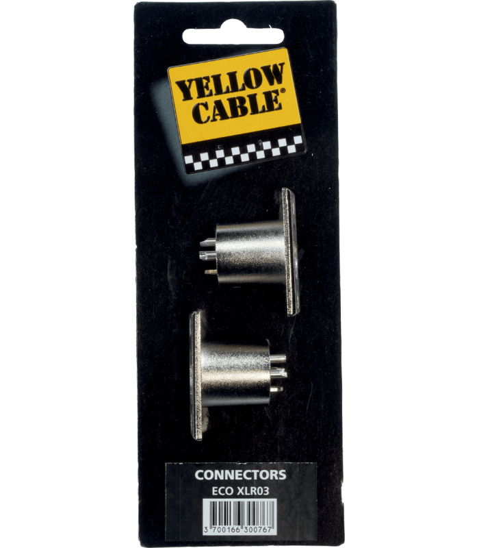 YELLOW CABLE - EMBASE XLR MALE METAL (LA PAIRE)