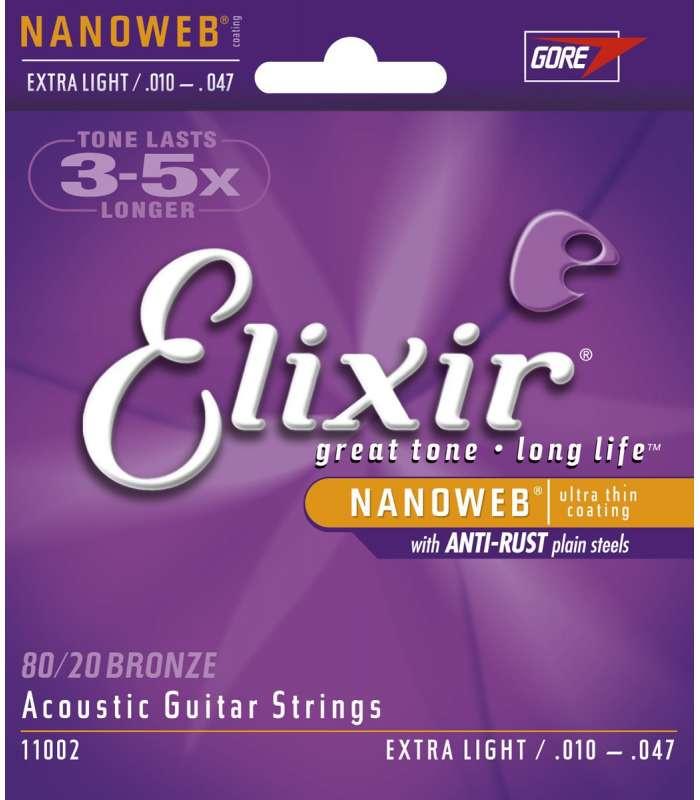 ELIXIR - CORDES ACOUSTIQUES NANOWEB XL 10-47