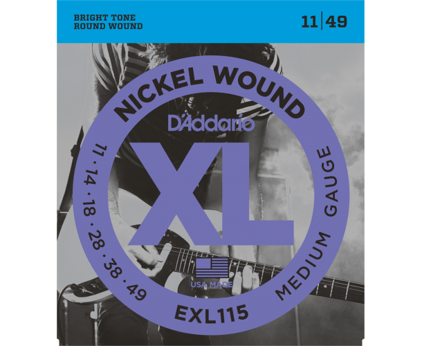 D'ADDARIO – EXL115 CORDES GUITARE ÉLECTRIQUE EXL115 11-49