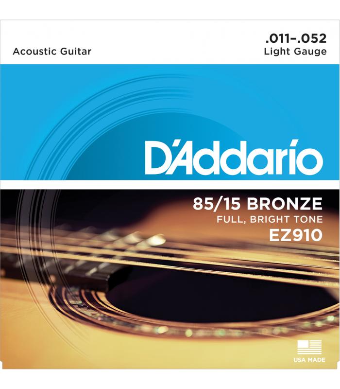 D'ADDARIO – EZ910 CORDES GUITARE ACOUSTIQUE LIGHT 11-52