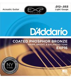 D'ADDARIO – EXP16NY CORDES GUITARE ACOUSTIQUE EXP16 LIGHT 12-53