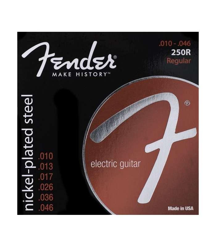 FENDER - Super 250 Guitar Strings Nickel Plated Steel Ball End 250R Gauges .010-.046 (6)