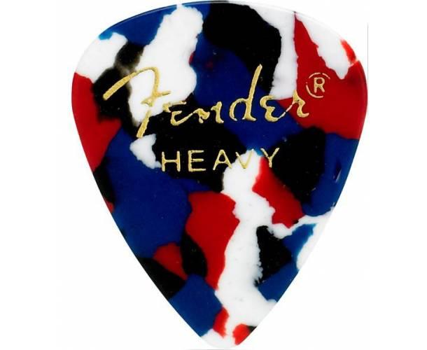 FENDER - 351 Shape Premium Picks  Medium  Confetti  12 Count