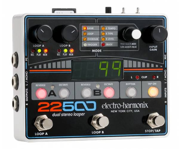 ELECTRO-HARMONIX - 22500 DUAL STEREO LOOPER