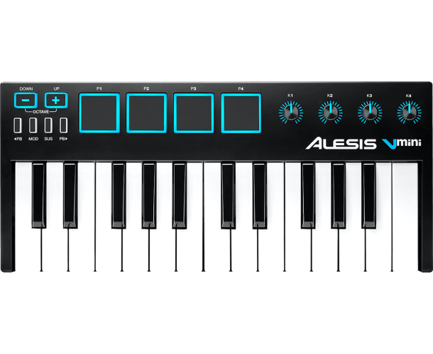 ALESIS - USB MIDI 25 MINI NOTES 4 PADS