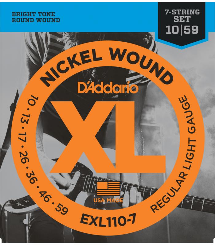 D'ADDARIO – EXL110-7 JEU 7 CORDES LIGHT EXL110-7