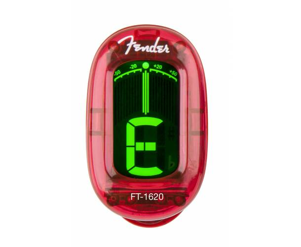 FENDER - California Series Clip-On Tuner Candy Apple Red