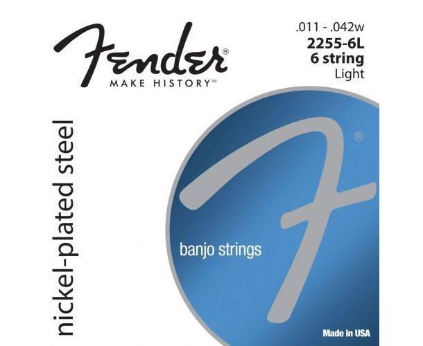 FENDER - Banjo Strings  NPS  2255-6L 6-String  Gauges .011-.042 (6)