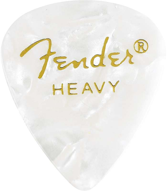 FENDER - 351 Shape Premium Picks Heavy White 12 Count