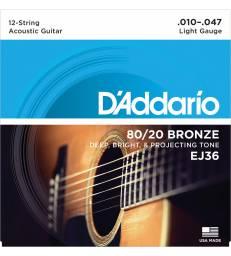 D'ADDARIO – EJ36 BRONZE 80/20 12C LIGHT