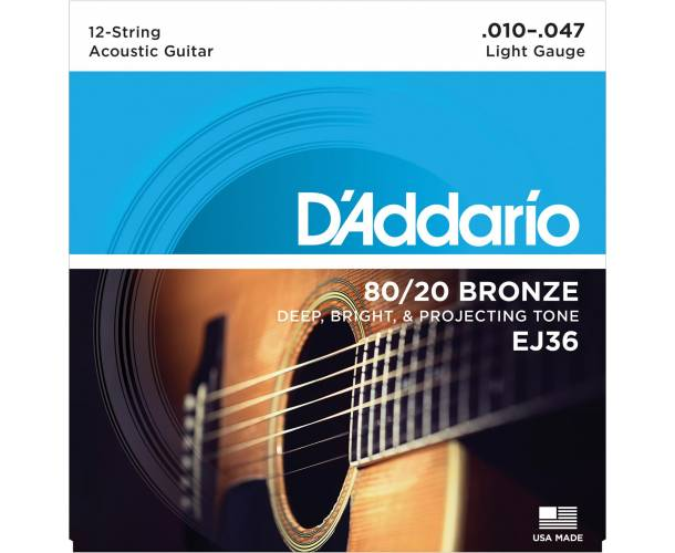 D'ADDARIO - BRONZE 80/20 12C LIGHT