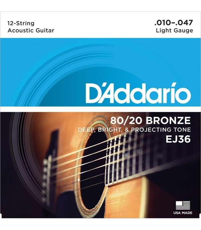 D'ADDARIO - BRONZE 80/20 12C LIGHT