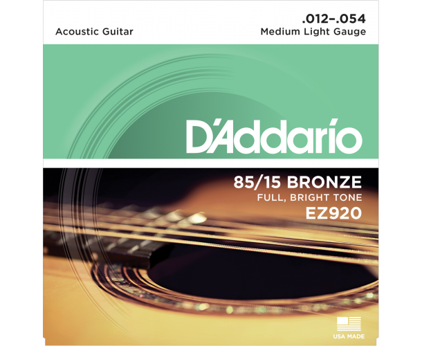 D'ADDARIO - JEU ACOUS 85/15 MEDIUM LIGHT