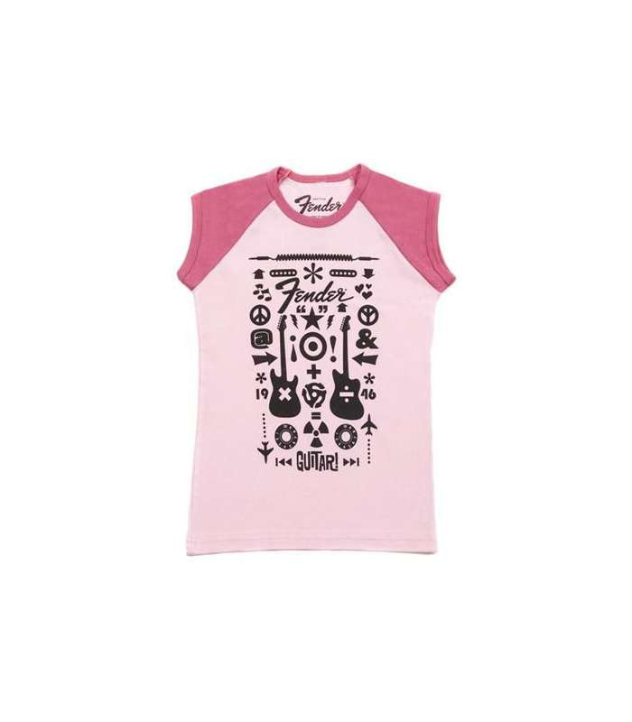 FENDER - Fender® Guitar Formula Youth T-Shirt Pink 8 YR