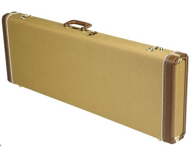 FENDER - Deluxe Strat®/Tele® Case  Tweed with Red Poodle Plush Interior
