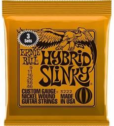 ERNIE BALL 3222 HYBRID SLINKY 9-46 PACK DE 3 JEUX -